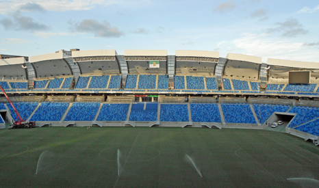 The Arena das Dunas in the city of Natal, Rio Grande, can be irrigated using recycled rainwater, collected from the roof